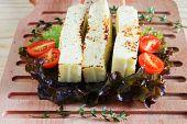 Brazilian Grilled Cheese Snack Queijo Coalho, Tomato, Hydroponic