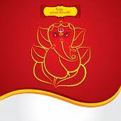 happy ganesh chaturthi sketch greeting card design background