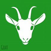 The Goat Silhouette Isolated on Background