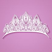 Vector Decorative Ornate Diadem