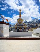 foto of himachal pradesh  - Kunzum Pass monastery is a high mountain monastery on the eastern Kunzum Range of the Himalayas  - JPG