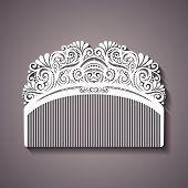 Vector Ornate Comb