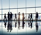 Group of Business People in Back Lit