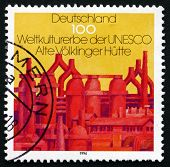 Postage Stamp Germany 1996 Closed Blast Furnace, Volklingen