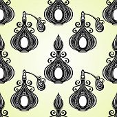 Seamless Pattern with Decorative Ornate Perfume