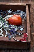 jewelry,decoration,holiday,love,symbol,heart,vintage,valentine's day,poppy,flower,lavender,fashion,r