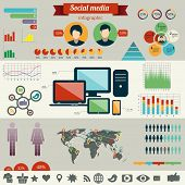 Social Network Infographics Set