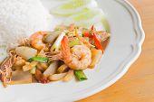 Stir fried pepper with shrimp