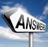 find answers indicating way to solve problems answer road sign search answer and discover truth text