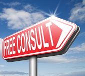 free consult road sign or help and information desk icon optimal customer support Gratis consultatio