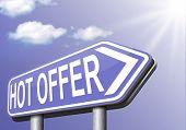 hot offer  or sign for online internet web shop concept. Webshop shopping sales  announcing bargain