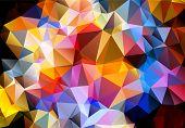 Multicolored background polygon