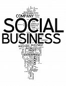 Word Cloud Social Business