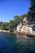 Rocky Coastline On The Mediterranean Sea