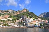 Picturesque summer landscape of town Amalfi, Italy