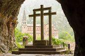The Three Crosses in Covadonga, Asturias Spain