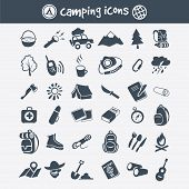 pic of boot camp  - Vector camping icon set - JPG
