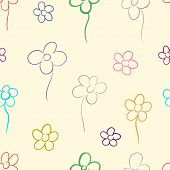 Contour of flowers
