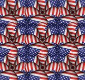 Modern Usa Flag Pattern