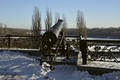 Old Cannon Next To Desna River