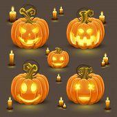 Pumpkin set with smile
