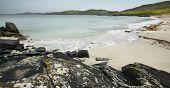 Scottish Coastline In Lewis Isle. Hebrides. Scotland. Uk