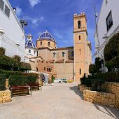 pic of costa blanca  - The village Altea on the Costa Blanca Alicante provinceSpain - JPG