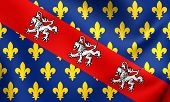 County Of Marche Flag, France.