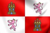 Flag Of Castile And Leon, Spain.