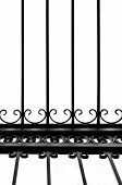 Detail Of Decorative Wrought Iron Fence