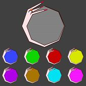 Set Of Blank Colourful Web Buttons For Website Or App. Vector