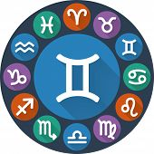Signs Of The Zodiac Circle - Gemini