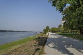 Riverside park in Ruse town along river Danube