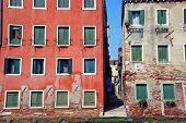 Venice Cityscape, Narrow Water Canal. Italy, Europe