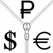 The Confrontation Of The Rouble To The Dollar And The Euro