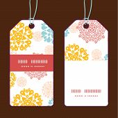 Vector abstract decorative circles stars vertical stripe frame pattern tags set