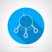 Flat round vector icon for ring necklace