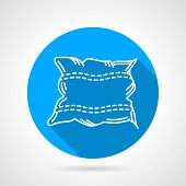 Flat round vector icon for pillow