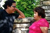 Latin American Mother and Son