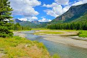 image of lamar  - Lamar Valley in Yellowstone National Park Wyoming in summer - JPG