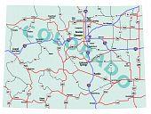 Estado de Colorado Interstate mapa