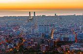 Dusty Barcelona before sunrise