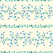 Watercolor Lavender floral Seamless pattern