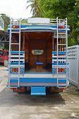 Phuket, Thailand-Sept,26 2014: City bus in Thailand. Phuket