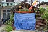 Phuket, Thailand-Sept,26 2014: Closed Hippie Bar on Kata Beach, Phuket