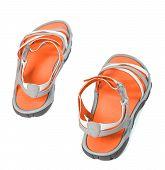 Summer Sandals.top View.