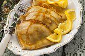 Pancake Crepe Suzette With Orange Sauce