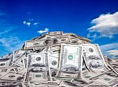 stock photo of money  - big pile of the money - JPG