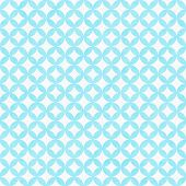 Teal And White Interconnected Circles Tiles Pattern Repeat Background