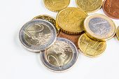 Different euro coins